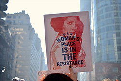 women's march - a women's place is in the resistance, princess leia